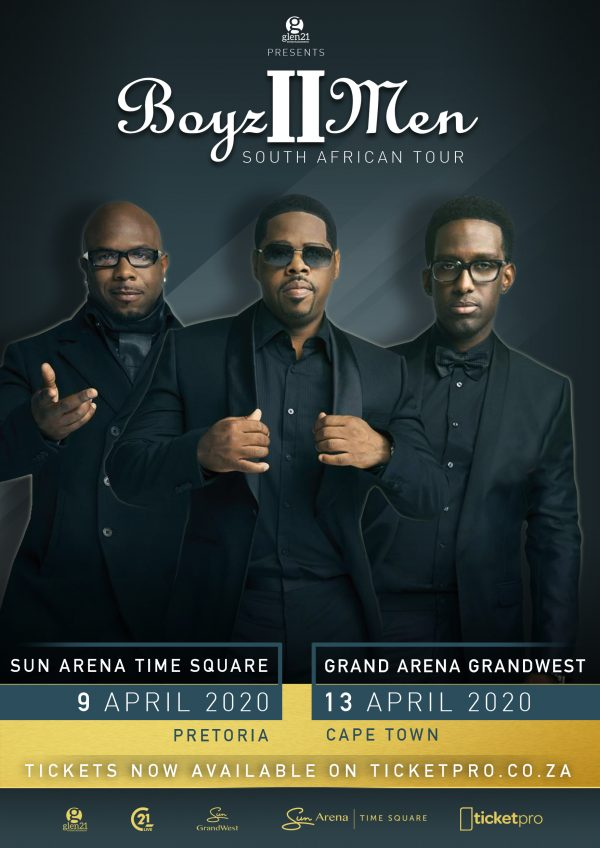ICONIC R&B GROUP BOYZ II MEN HEADING TO SOUTH AFRICA THIS APRIL