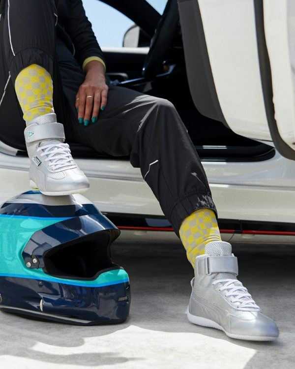 PUMA drives female motorsport fashion with Mercedes-AMG Petronas F1 Team Speedcat Mid L